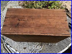 Aughinbaugh Canning Co. Baltimore Antique Oyster Crate Black Americana