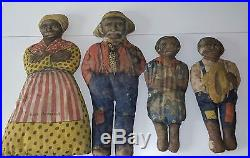 Aunt Jemima, Mose, Diana, & Wade vintage dolls, 1924 Black Americana