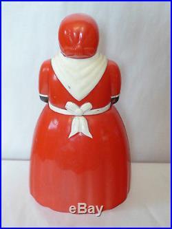 Aunt Jemima Vtg Cookie Jar F&F Mold & Die Works Black Mammy Americana Plastic
