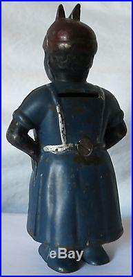 Aunt Jemima (mammy With Spoon) Vintage Cast Iron Bank, Ac Williams