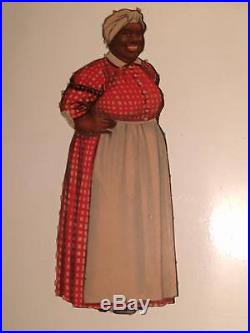 Aunt Jemima paper doll black americana very rare plus 2 outfits mammy 1940s