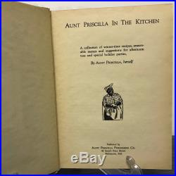 Aunt Priscilla in the Kitchen Black Americana Cookbook, dated 1929