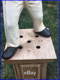 Authentic Antique Cast Iron Lawn Jockey Jocko Excellent Condition