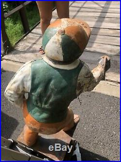 Authentic Cast Iron Lawn Jockey Antique statue Hitching Post