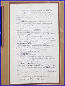 Autobiography Malcolm X Early Draft Page Alex Haley & MALCOLM Hand Annotated yqz