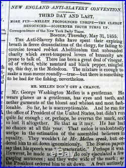 BEST 1855 Anti-Slavery newspaper SOJOURNER TRUTH speaks at ABOLITION CONVENTION