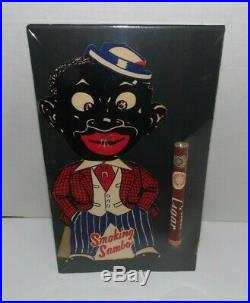 BLACK AMERICANA CARDBOARD SMOKING SAMBO/with ORIGINAL CIGAR/store display