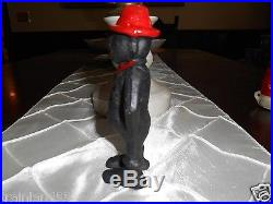 BLACK AMERICANA GIVE ME A PENNY CAST IRON BANK SOLID HEAVY SEE PICTURES