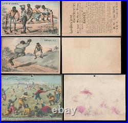 BLACK AMERICANA VICTORIAN 1880s Trade Cards (6) with(3) Baseball INCL (2) H804-5A