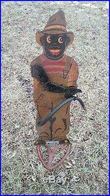 BLACK AMERICANA VINTAGE 1920s-30s SPRINKLIN SAMBO SPRINKLER With1 PIECE ARM RARE