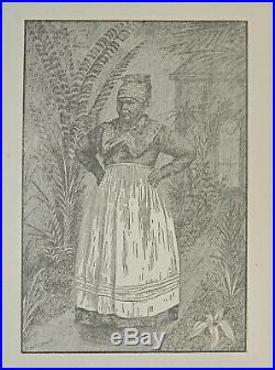 BLACK MAMMY Civil War Aunt Jemima RARE American Antique FOLK ART African SLAVERY