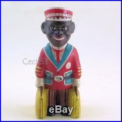 BLACK MAN PORTER BELL HOP CAST IRON STILL BANK BLACK AMERICANA SHIPS FREE