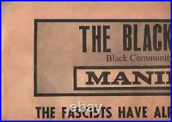 BLACK PANTHER MANIFESTO POSTER Bobby Seale in the Electric Chair 1970