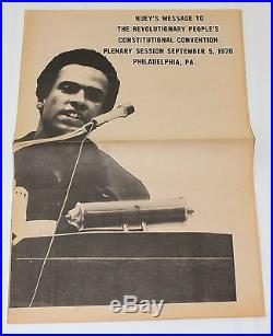 BLACK PANTHER PARTY Free Huey Newton 1970 ORIGINAL POSTER Civil Rights Speech