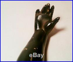 BLACKAMOOR coat hanger vtg bronze brass petites choses arm statue wall sculpture