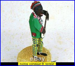 Banjo dancer Black Americana tin wind-up jigger toy. SEE MOVIE