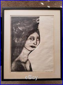 Betye Saar Artist Proof 1964 Enchantress & Twilight Bird etching Black Americana