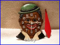 Black Americana 1930's Lux Dixie Gent Clock