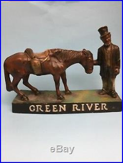 Black Americana Advertizing Green River Whiskey C1930, S to 1940, S (Firm Price)