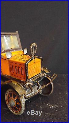 Black Americana Antique Tin Wnd Up Toy Marx Fresh Air Taxi