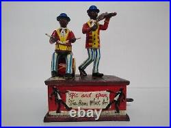Black Americana BANK Shepard Hardware Co. Drummer 1800s Spic and span cast