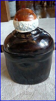 Black Americana Butler Cookie/Cracker Jar