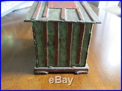 Black Americana Cast Iron Bank Mechanical Bank J & E Stevens c 1885 Cabin Bank