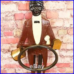Black Americana Cast Iron Butler Smoking Stand 33 Ashtray African American