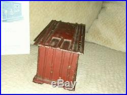 Black Americana Cast Iron Cabin Mechanical Bank J & E Stevens c 1885 No. 275