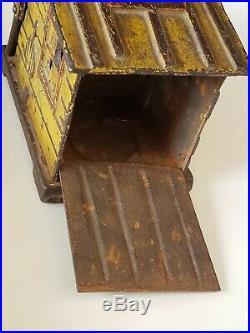Black Americana Cast Iron Cabin Mechanical Bank J & E Stevens c 1885 READ
