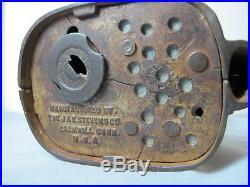 Black Americana Cast Iron Jolly N Mechanical Bank J & E Stevens 1882