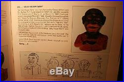 Black Americana Cast Iron Jolly N Mechanical Bank Shepard Hardware c1882