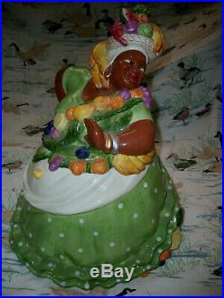 Black Americana Dancer Mammy Cookie Jar Retired Fitz & Floyd Carioca