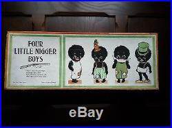 Black Americana Game Very Rare Four Little Negro Boys Shooting Game