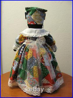 Black Americana Handmade Mammy Folk Cloth Sock Bottle Doll