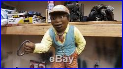 Black Americana Lawn Jockey Jocko Groomsman Yard Boy Hitching Post