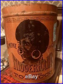 Black Americana Leidersdorf Bigger Hair Tobacco Tin 1878