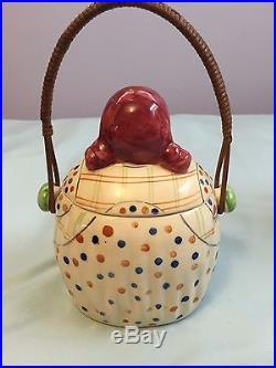 Black Americana Mammy Cookie Jar with Basket Handle RARE