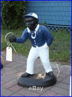 Black Americana Red Lawn Jockey Statue. Hurry While Supplies Last