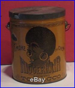 Black Americana Tobacco Tin Like Bigger Hair B. Leidersdorf Co