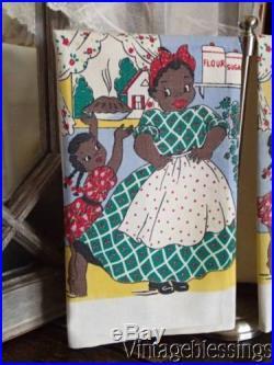 Black Americana True Vintage Mammy Kitchen Towel Never Used