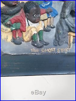Black Americana VERY OLD AND RARE ANTIQUE Papier-Mache The Ghost Story