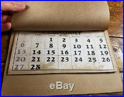 Black Americana Young Boy Store Racist Advertising Calendar Full Year for 1944