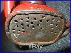 Black Americana coin bank 1 of 5 vintage Red Jolly Mechanical Coin Cast Iron