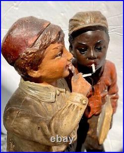 Black Americanajohann Mareschsculpture2 Boys Smokingterra Cottasuper Rare
