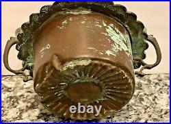 Black Americanaman Smoking Cigartobacco Jarcopper1850so Rare! Spectacular