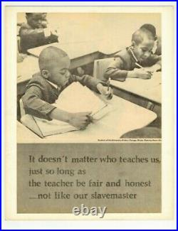 Black Civil Rights Poster 1970 Racial Equality In Education Schools Students L73