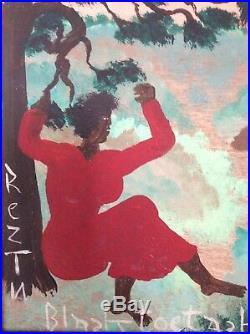 Black Joe Jackson Folk Artist Painting