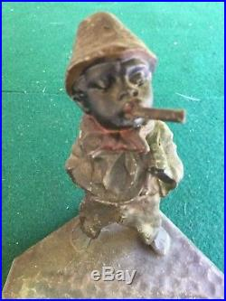 Black Memorabilia Child nodder smoking metal ashtray