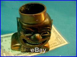 Black Memorabilia Rare & Original Copper COON CHICKEN INN MATCH HOLDER & STRIKER